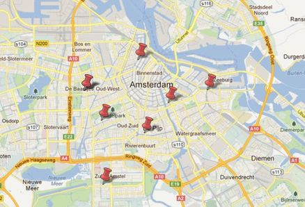 Kaart Amsterdam