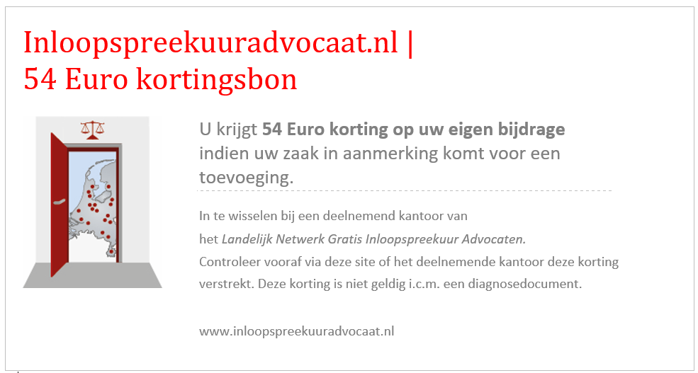 kortingsbon 54 euro inloopspreekuuradvocaat