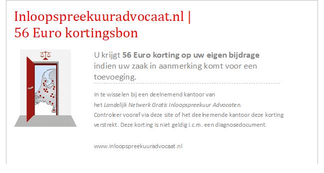 kortingsbon 56 euro inloopspreekuuradvocaat